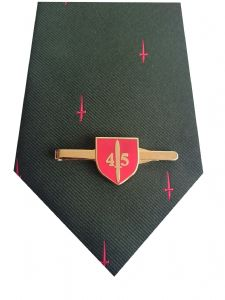 Royal Marines 45 Commando Tie & Tie Clip Set q359